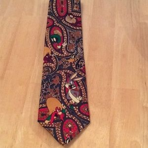 LOONEY TUNES MANIA 1993 MEN'S TIE ALL CHARACTERS
